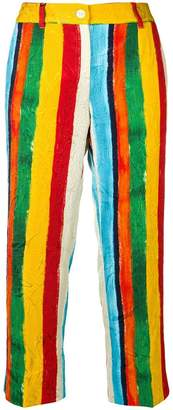 Dolce & Gabbana painted stripe print trousers