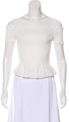 Rebecca Minkoff Short Sleeve Ruched Top