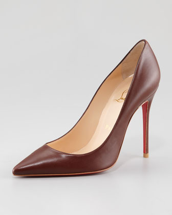 Christian Louboutin Decollete Pointed-Toe Red Sole Pump
