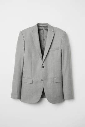 H&M Wool Blazer Slim fit - Gray