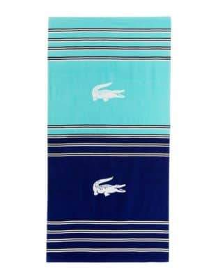 Lacoste Heritage Cotton Beach Towel