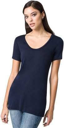 Le Château Women's Jersey Scoop Neck Top,XL