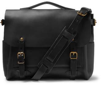 Bleu de Chauffe éclair Leather Messenger Bag