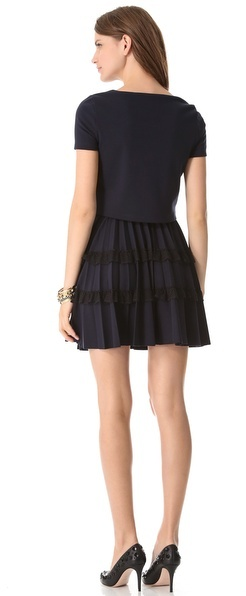 RED Valentino Pleated Dress
