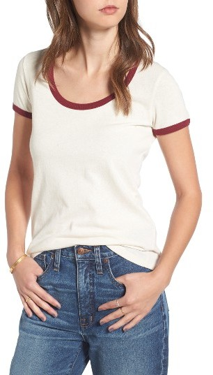 Women's Madewell Recycled Cotton Ringer Tee