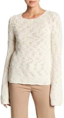 Derek Lam Bell Sleeve Raglan Knit Wool Sweater