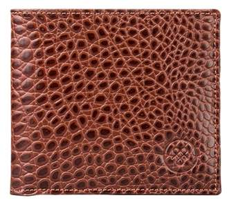 61186dedee31ff Maxwell Scott Bags Men S Mock Croc Tan Leather Wallet With Coin Pocket