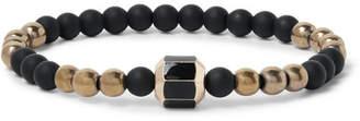 Luis Morais 14-Karat Gold, Hematite and Enamel Bracelet - Men - Black