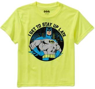 Batman DC Comics Boys' Stay Up Late Graphic Tee