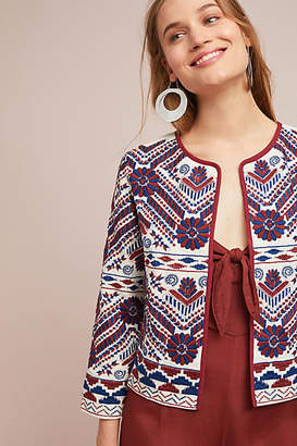 Anthropologie Greenwich Embroidered Jacket