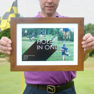 Hello Ruth Personalised Golf Photo Collage Print