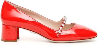 Miu Miu Mary Jane Pumps With Stars