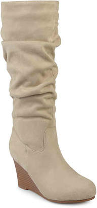 Journee Collection Haze Wide Calf Wedge Boot - Women's