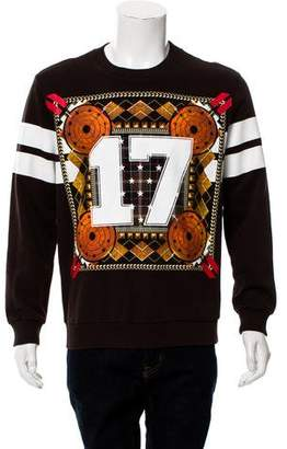 Givenchy 17 Stars Diamonds & Stripe Sweatshirt