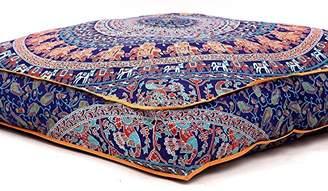 "DAY Birger et Mikkelsen Large Indian Meditation Floor Pillow Cover 35"" X 35"" Inch Elephant Mandala Ottoman Cushion Dog Bed Outdoor Sofa Bed Kids Teen Floor Pillow"
