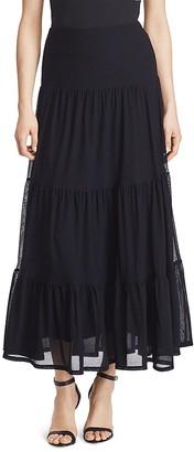Lauren Ralph Lauren Tiered Maxi Skirt $135 thestylecure.com