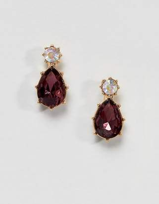 Asos DESIGN Twinkle Stone Jewel Earrings