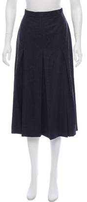 Celine Wool Midi Skirt