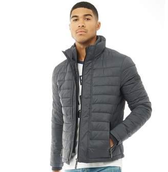 Superdry Mens Fuji Triple Zip Through Jacket Charcoal