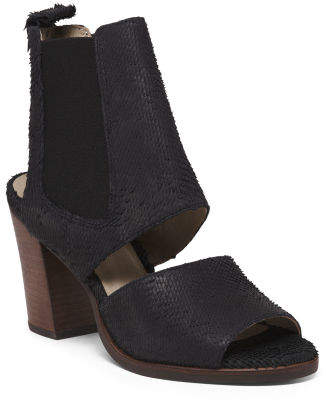Made In Brazil Leather Cutout Booties