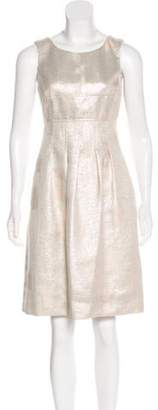 Lela Rose Sleeveless Knee-Length Dress Champagne Sleeveless Knee-Length Dress