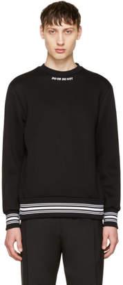 Neil Barrett Black Do or Do Not Sweatshirt