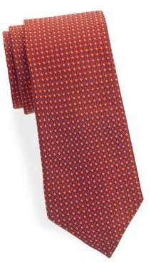 Saks Fifth Avenue Geometric-Print Silk Tie