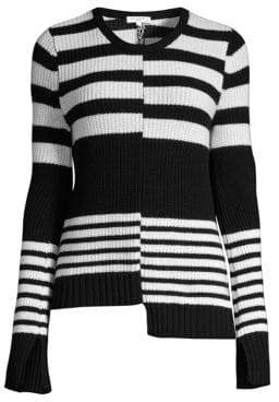 Equipment Elm Horizontal Striped Cashmere Sweater