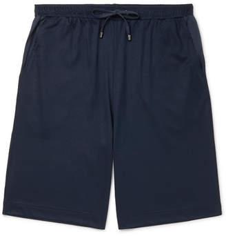 Zimmerli Cotton And Modal-Blend Drawstring Pyjama Shorts