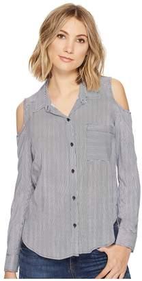 Splendid Boardwalk Stripe Mixed Stripe Shirt Women's Long Sleeve Button Up