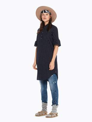 Scotch & Soda Ruffle Sleeve Shirt Dress