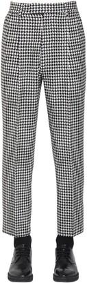 Alexander McQueen 19cm Cropped Wool Houndstooth Pants