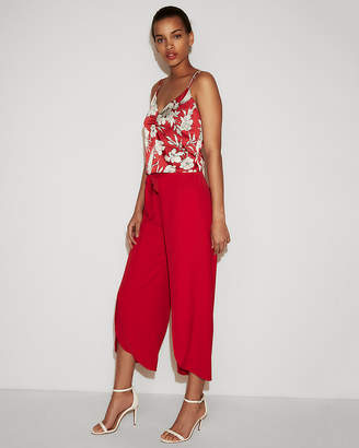 Express High Waisted Knot Surplice Cropped Pant
