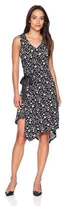 Ellen Tracy Women's Petite Ruched Dress