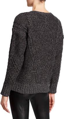 MICHAEL Michael Kors Drop-Shoulder Cable-Knit Sweater