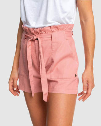 Roxy Womens Chic And Elegance Linen Shorts