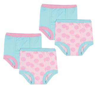 Gerber Reusable Training Pants Bundle, Pink Polka Dots, 4-pack (Baby Girls)