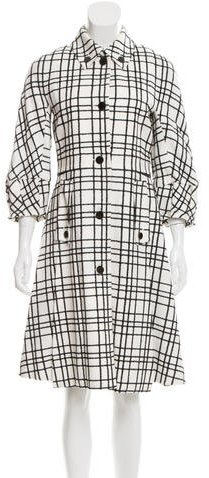 Gucci Short Sleeve Plaid Coat