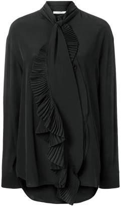 Givenchy ruffled scarf neck blouse
