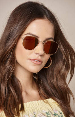 La Hearts Square Sunset Sunglasses