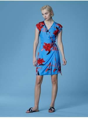 Diane von Furstenberg Side Tie Wrap Dress