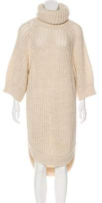 Chloé Turtleneck Long Sleeve Sweater Dress
