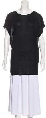 Lanvin Ruched Knit Top
