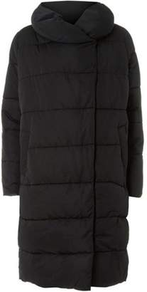 Dorothy Perkins Womens Black Longline Duvet Coat