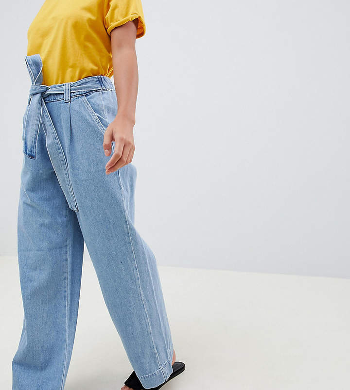 New Look Petite Wide Leg Jeans