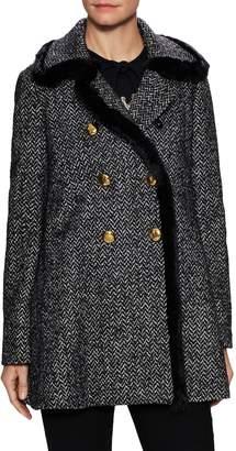 Dolce & Gabbana Women's Double Breasted Tweed Coat