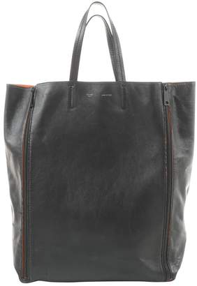 Celine Cabas Black Leather Handbags