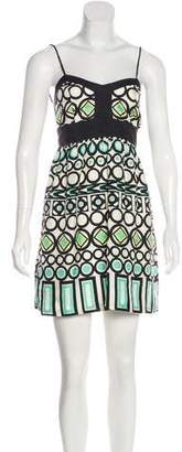Milly Silk Geometric Dress