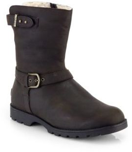 UGG Grandle Shearling Lined Shearling Motorcycle Boots