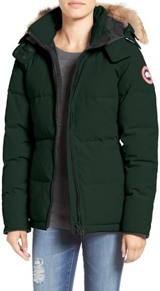 Women's Canada Goose 'Chelsea' Slim Fit Down Parka With Genuine Coyote Fur Trim $825 thestylecure.com